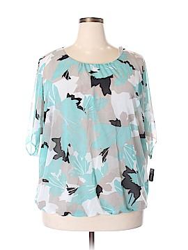 Alfani Short Sleeve Button-Down Shirt Size 1X (Plus)