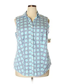 Charter Club Sleeveless Button-Down Shirt Size 18W (Plus)