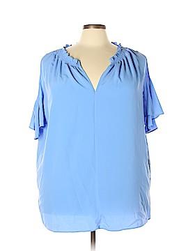 RACHEL Rachel Roy Short Sleeve Blouse Size 3X (Plus)