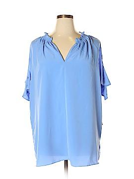 RACHEL Rachel Roy Short Sleeve Blouse Size 2X (Plus)