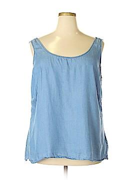 Free 2 luv Sleeveless Blouse Size 2X (Plus)