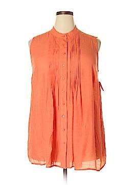 Alfani Sleeveless Button-Down Shirt Size 16W
