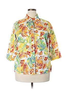 Breckenridge 3/4 Sleeve Button-Down Shirt Size 1X (Plus)
