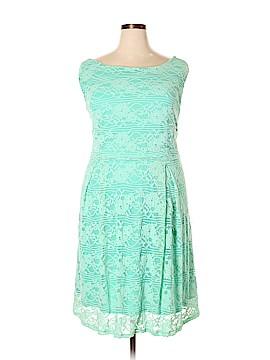 Yellow Star Casual Dress Size 4X (Plus)