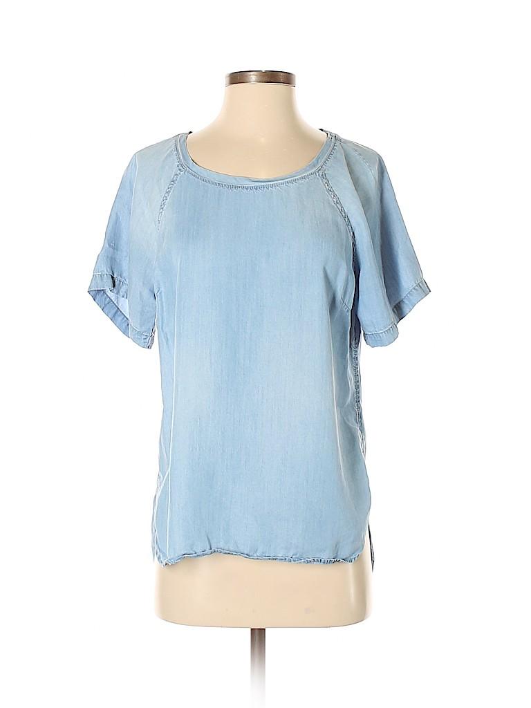 8f843a05 Cloth & Stone 100% Tencel Chambray Blue Short Sleeve T-Shirt Size S ...