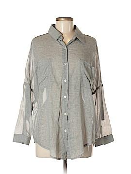Sis Sis Long Sleeve Button-Down Shirt Size M