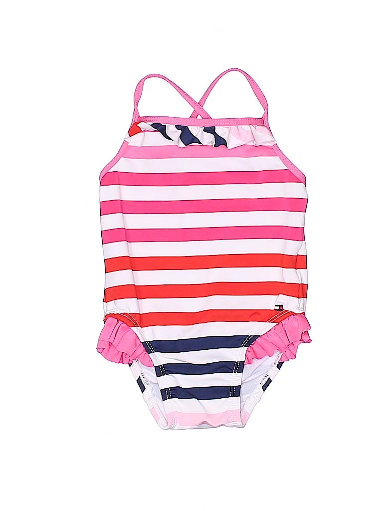 af187293 Tommy Hilfiger Stripes Pink One Piece Swimsuit Size 12 mo - 73% off ...