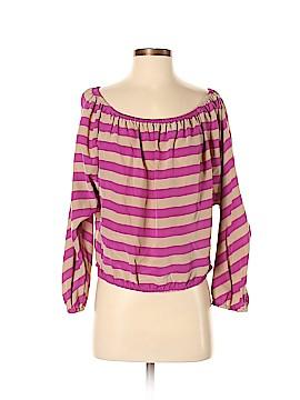 BCBGMAXAZRIA Long Sleeve Silk Top Size S