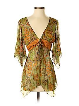 Anna Paul 3/4 Sleeve Silk Top Size S