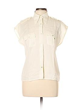 Max Mara Short Sleeve Button-Down Shirt Size 10