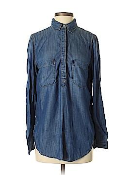 Lou & Grey Long Sleeve Button-Down Shirt Size XS