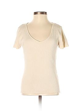 August Silk Short Sleeve Top Size S