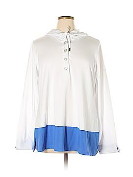 Susan Graver Long Sleeve Henley Size 1X (Plus)
