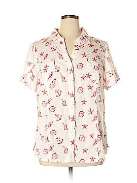 Karen Scott Short Sleeve Button-Down Shirt Size 2X (Plus)