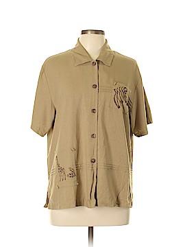 Cervelle Short Sleeve Silk Top Size L