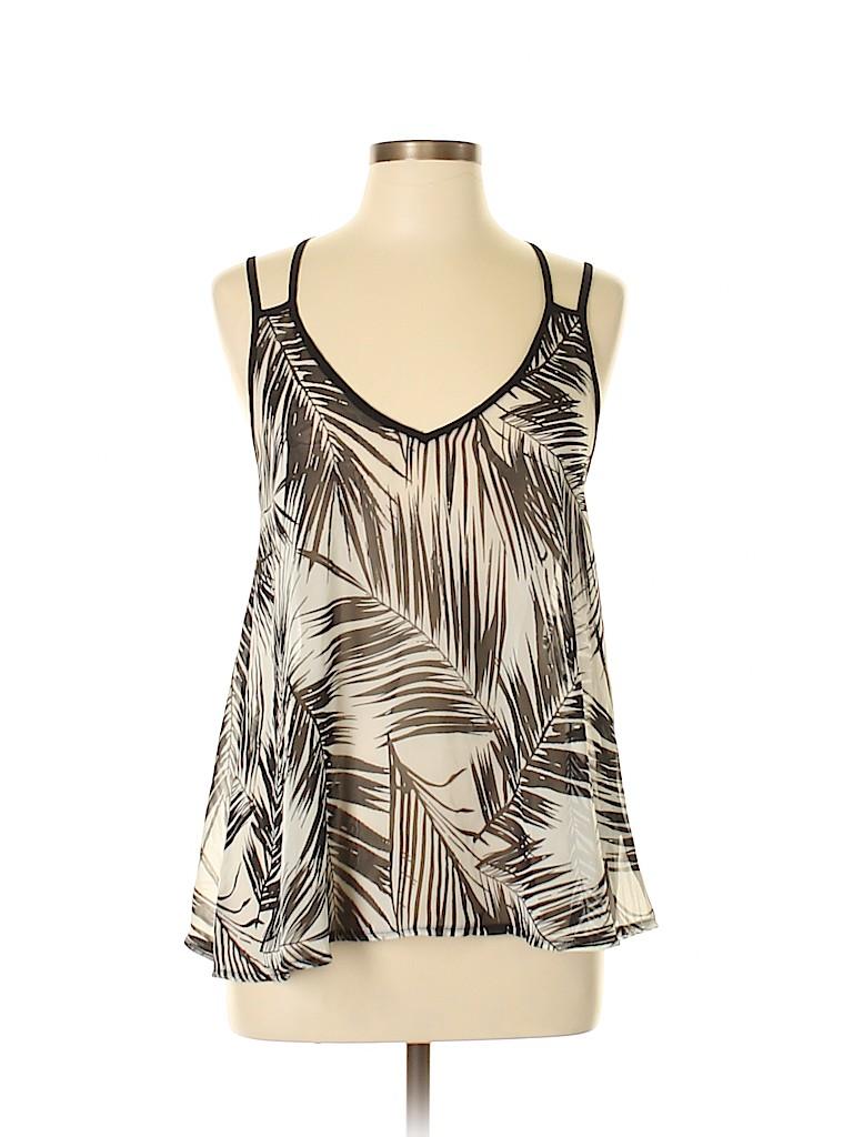 Fab'rik Women Sleeveless Silk Top Size L