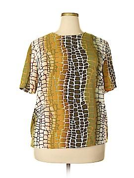 Maggie Barnes Short Sleeve Blouse Size 1X (Plus)