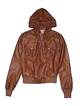 Sans Souci Faux Leather Jacket Size S