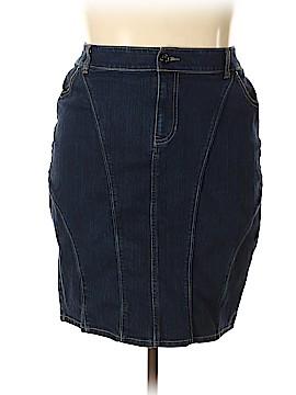 Lane Bryant Denim Skirt Size 18 Plus (3) (Plus)