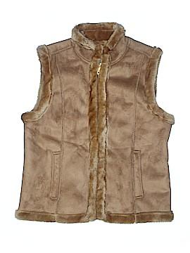 Jaclyn Smith Faux Fur Vest Size S