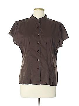A.n.a. A New Approach Short Sleeve Button-Down Shirt Size XL (Petite)