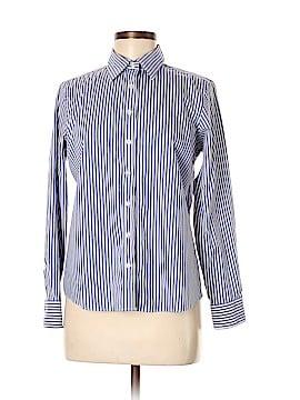 Lands' End Long Sleeve Button-Down Shirt Size 8 (Petite)