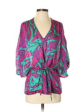 Zoa Short Sleeve Silk Top Size S