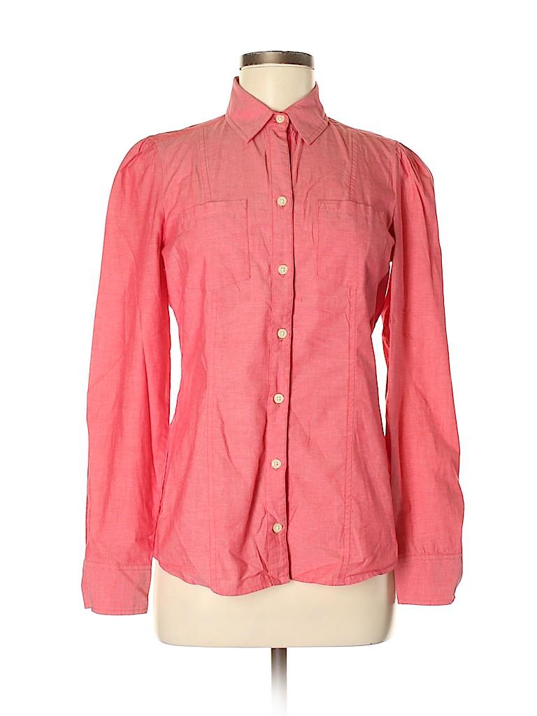 Banana Republic Women Long Sleeve Button-Down Shirt Size 6