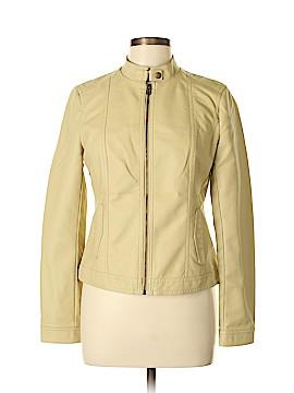 Baccini Faux Leather Jacket Size M