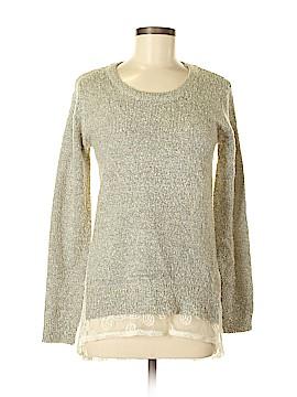 Hem & Thread Pullover Sweater Size S