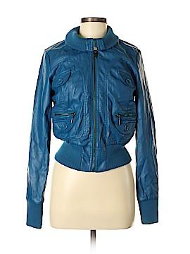 New York Yoki Collection Faux Leather Jacket Size M