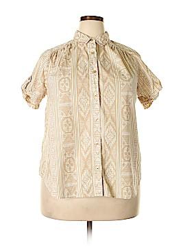 Roaman's Short Sleeve Button-Down Shirt Size 16