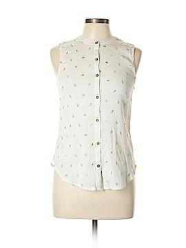 Vanessa Virginia Sleeveless Button-Down Shirt Size 10