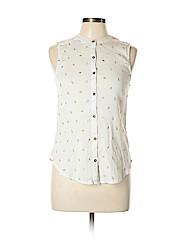 Vanessa Virginia Women Sleeveless Button-Down Shirt Size 10