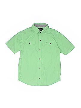 CALVIN KLEIN JEANS Short Sleeve Button-Down Shirt Size 10 - 12