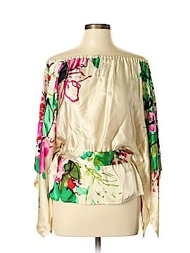 Yoana Baraschi 3/4 Sleeve Silk Top Size M