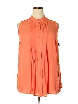 Alfani Sleeveless Button-Down Shirt Size 14W