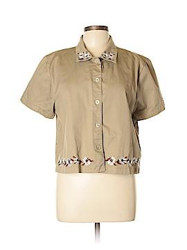Bobbie Brooks Short Sleeve Button-Down Shirt Size XL