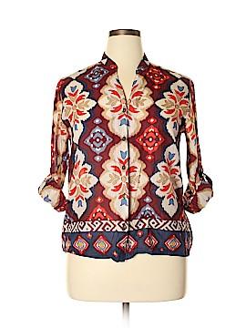 Alfred Dunner Long Sleeve Button-Down Shirt Size 14