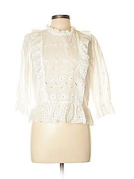 Zara Basic 3/4 Sleeve Button-Down Shirt Size L
