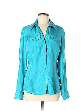 Express Long Sleeve Silk Top Size M