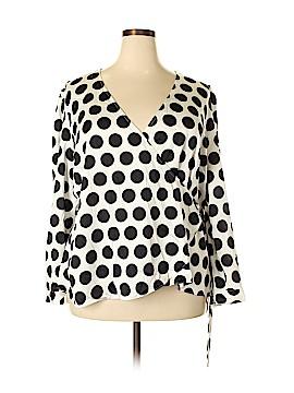 INC International Concepts Long Sleeve Blouse Size XXL