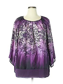 Susan Graver 3/4 Sleeve Blouse Size XL