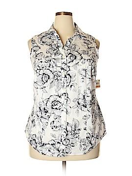 Charter Club Sleeveless Button-Down Shirt Size 14