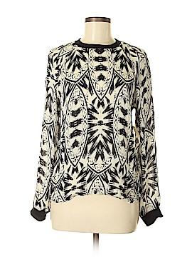 Nicole Miller Artelier Long Sleeve Silk Top Size S