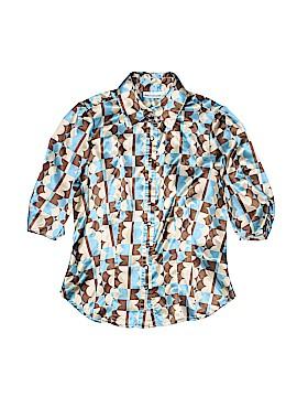 John Paul Richard 3/4 Sleeve Button-Down Shirt Size S