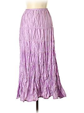 Garnet Hill Silk Skirt Size 6