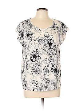 Carole Little Short Sleeve Blouse Size L