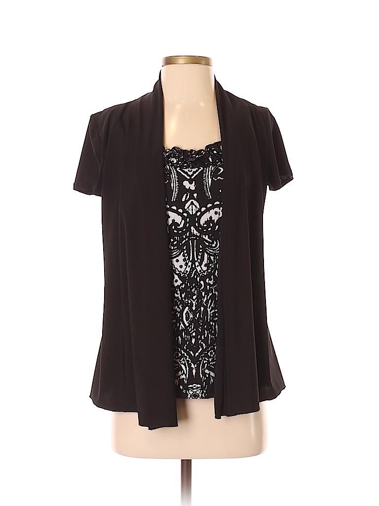 Agenda Women Short Sleeve Blouse Size S