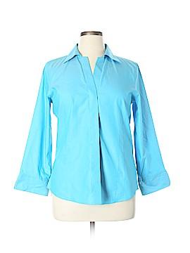 Foxcroft Long Sleeve Button-Down Shirt Size 14